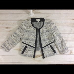 Hinge Soft Wool Blend Cotton Tweed Blazer Jacket M